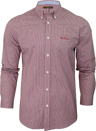 Ben Sherman Mens Long Sleeved Gingham Check Shirt (Red) S
