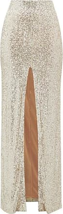 Galvan Modern Love High-rise Sequinned Maxi Skirt - Womens - Light Gold
