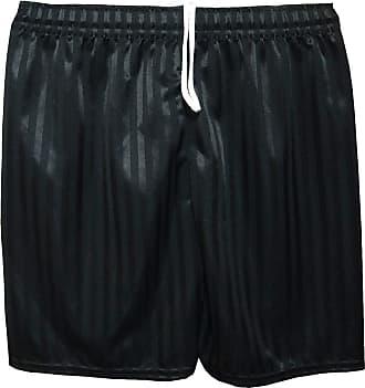 Islander Fashions Mens Summer Sports Football Shadow Stripes Shorts Boys Gym Wear Short Pants Black Adult Large
