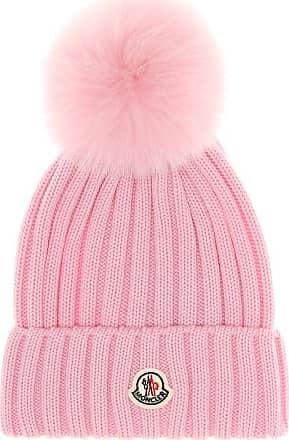 Moncler Mütze aus Wolle mit Pelzbesatz