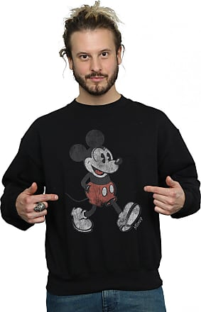 Disney Mens Mickey Mouse Walking Sweatshirt XXX-Large Black