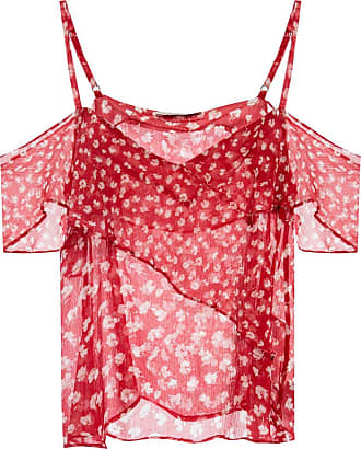 Allsaints Savine Patterned Slip Top Womens Red