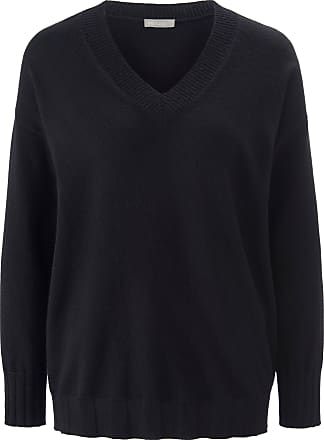 include V-neck jumper in 100% cashmere include black