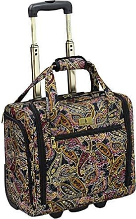 2dff1e477 London Fog Cranford 15 Under The Seat Bag, Black Gold Plum Paisley