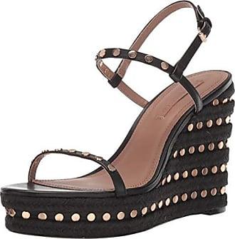 Bcbgmaxazria Womens Paige Wedge Sandal Heeled, Black 9 M US