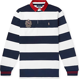 a64ba01c4 Polo Ralph Lauren Twill-trimmed Striped Cotton-jersey Rugby Shirt - White