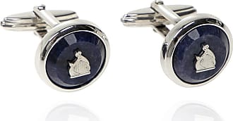 Lanvin Embellished Cufflinks Mens Navy Blue