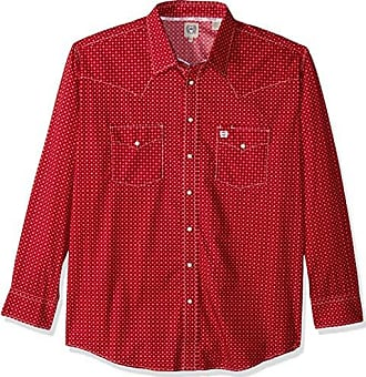 Cinch Mens Classic Fit Long Sleeve Snap Two Sawtooth Flap Pocket Shirt