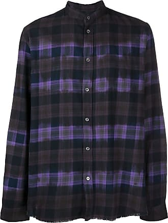 Zadig & Voltaire Torrol frayed check shirt - Blue
