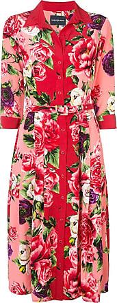 Samantha Sung Audrey Peony shirt dress - Red