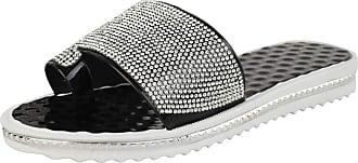 Saute Styles Ladies Women Summer Beach Gem Diamante Sliders Flip Flop Sandals Jelly Shoes Size 6