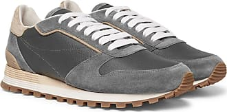grain Leather Brunello Full Cucinelli Gray Sneakers And Suede ITXUgwqnX
