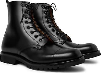 Cheaney Trafalgar Cap-toe Leather Derby Boots - Black