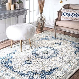 nuLOOM Persian Verona Distressed Area Rug, 4 x 6, Blue