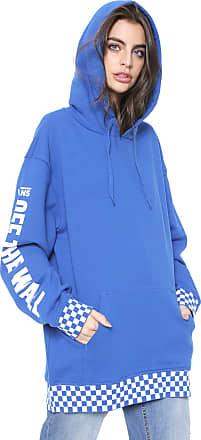 Vans Moletom Fechado Vans Centrl Hoodie Azul