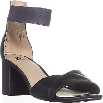 White Mountain Womens Ever Fabric Open Toe Formal Ankle, Sapphire, Size 9.5 US/US