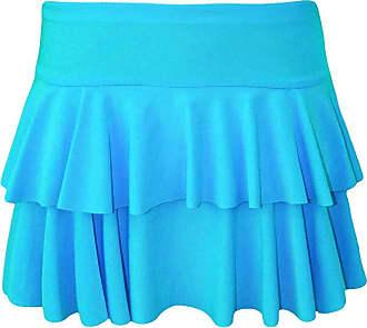 21Fashion Womens Mini RARA Skirt Ladies Dance Club Party Fancy Dress Frill Short Skirt Turquoise Large/X-Large