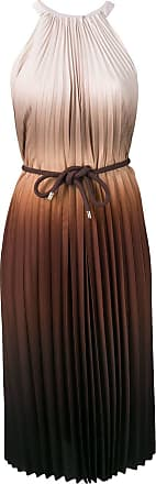 Max Mara Vestido plissado degradê - Marrom