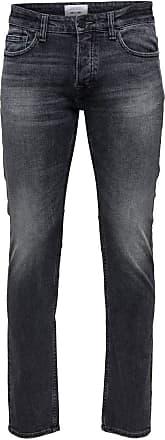 Only & Sons Mens Onsweft Washed Dcc 2040 Noos Straight Jeans, Black (Black Denim Black Denim), W36/L32