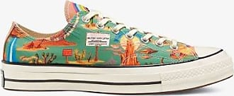 Converse Womens Green Multicoloured Chuck 70 Twisted Resort Desert Low Top Sneakers