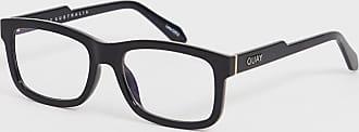 Quay beatnik square clear lens glasses in black
