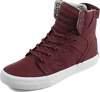 cheap for discount 0c5c0 58daf Supra Mens Skytop Shoes, UK  8.5 UK, Burgundy White