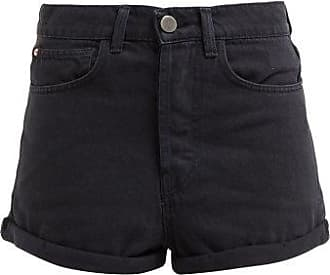 Raey Low Cut-off Denim Shorts - Womens - Black