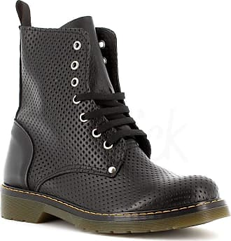 Generico Made in Italy Amphibian Leather Style Dr Martens - Black Black Size: 4 UK