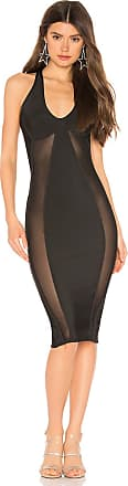 Superdown Nicole Keyhole Bodycon Dress in Black
