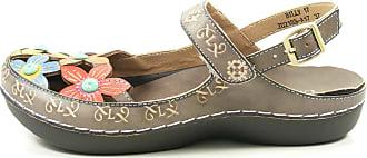 Laura Vita JD2183-A17 Billy 17 Womens Fashion Clogs, schuhgröße_1:37 EU;Farbe:gris