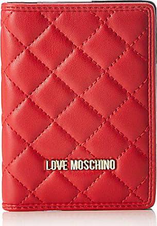 1ace4538f6 Love Moschino Portafogli Nappa Pu Rosso - Pochette da giorno Donna, (Red),