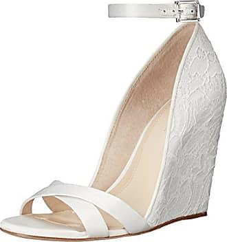 Imagine Vince Camuto Womens Lilo Wedge Sandal, Bone, 10 M US