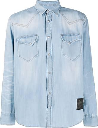 John Richmond Camisa jeans com mangas longas - Azul