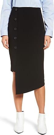dfc3b0573 Halogen (R) Button Detail Asymmetrical Skirt (Regular & Petite)