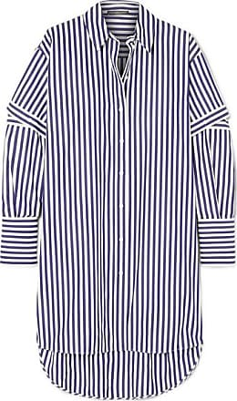 6fe3d2da8f19 Alexander McQueen Oversized Cutout Striped Cotton-poplin Shirt - Blue