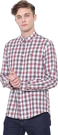 Tommy Jeans Camisa Tommy Jeans Reta Xadrez Branca/Vermelha