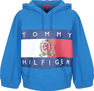 Grigio Heather Tommy HILFIGER Premium con logo sul davanti Felpa