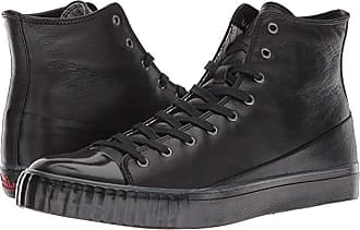 John Varvatos Mid Top (Black) Mens Lace up casual Shoes