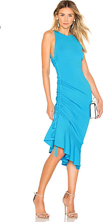 Milly Shirred Side Dress in Blue