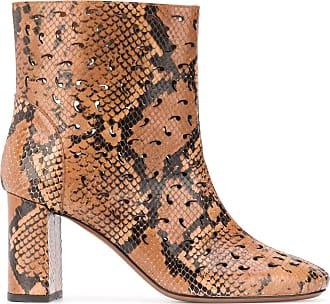 L'autre Chose Ankle boot com estampa de pele de cobra - Marrom