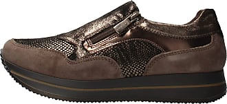 Igi & Co Bronzo Scarpa Donna 4144955 Sneaker Pelle Slip-on Con Cerniera Made in Italy Brown Size: 8 UK