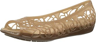 Crocs Womens Isabella Jelly Flat W Ballet, Bronze/Gold, 3 UK