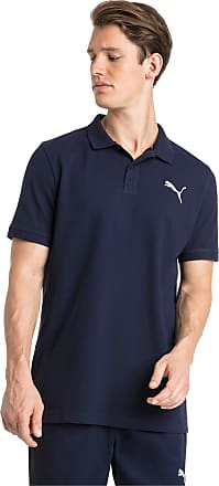 Puma Essential Short Sleeve Mens Polo Shirt, Peacoat/Cat, size X Small, Clothing