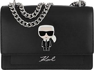 Karl Lagerfeld Ikonik Metal Lock Shoulderbag Black Umhängetasche schwarz