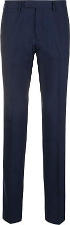 Sandro Calça de alfaiataria de tricô com detalhe de pregas - Azul