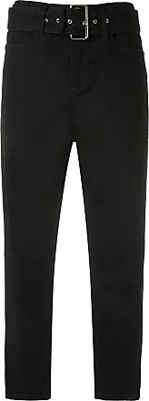 Uma Calça Arnold cinto com fivela - Preto