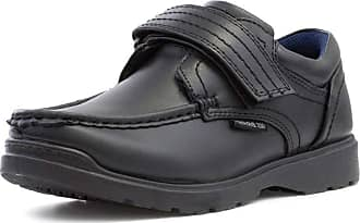 US Brass Boys Easy Fasten Shoe in Black - Size 4 UK - Black