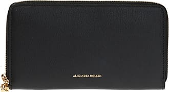 Alexander McQueen Wallet With A Logo Womens Black