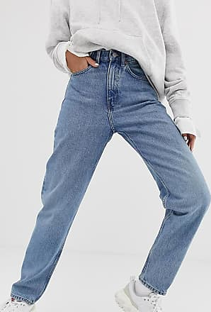 Weekday Lash - Oversize-Mom-Jeans aus Bio-Baumwolle in Hellblau