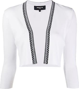 Paule Ka cropped open front cardigan - White